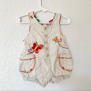 Children's Place Khaki Tank Romper